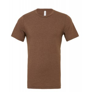 SHORT SLEEVED T-SHIRT HEATHER BROWN