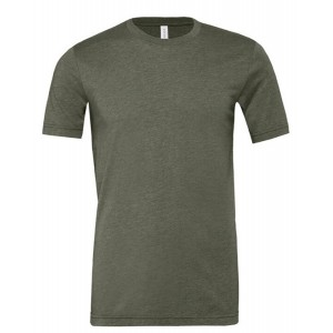SHORT SLEEVED T-SHIRT HEATHER MILITARY GREEN