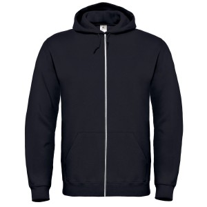 SPONGE FLEECE FULL-ZIP HOODIE BLACK