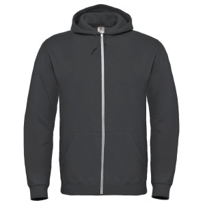 SPONGE FLEECE FULL-ZIP HOODIE DARK GREY HEATHER