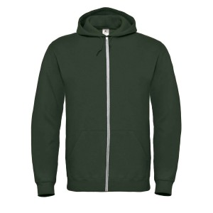 SPONGE FLEECE FULL-ZIP HOODIE HEATHER FOREST