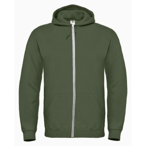 SPONGE FLEECE FULL-ZIP HOODIE MILITARY GREEN