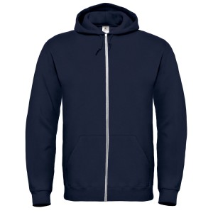 SPONGE FLEECE FULL-ZIP HOODIE NAVY BLUE