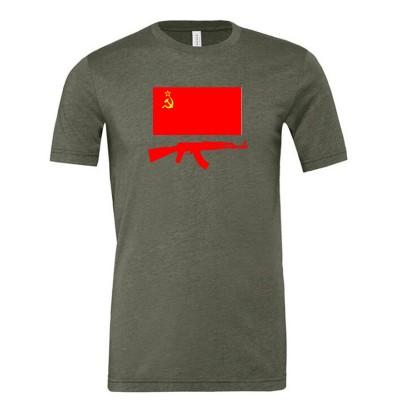 USSR flag & AK